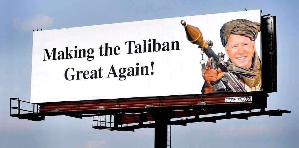 Who Put Up The Joe Biden Taliban Billboard Over I-83 In York County?