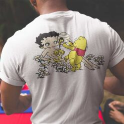 Pooh Bear Betty Boop Shirt Pooh Pouring Honey On Betty Boop