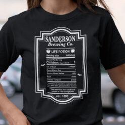 Sanderson Sisters T Shirt Sanderson Brewing Co Life Potion