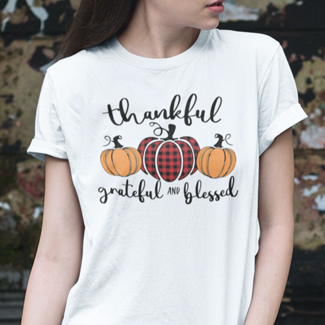 Thankful Grateful And Blessed Shirt Thanksgiving