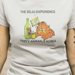 The Soju Experience Party Animals Korea Shirt Garfield Cat