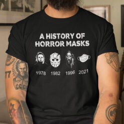 A History Of Horror Mask Shirt Horror Movie Characters