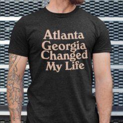 Atlanta Georgia Changed My Life Shirt Basketball Tee