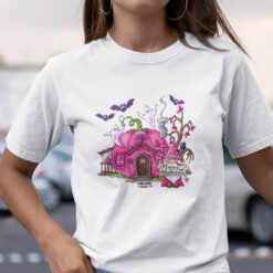 Breast Cancer Awareness Gnome Happy Halloween Shirt