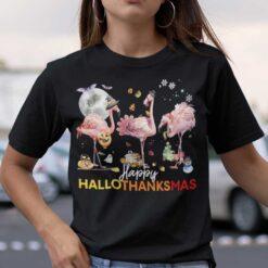 HalloThanksMas Flamingo Shirt