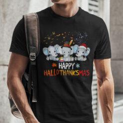 Happy Hallothanksmas Elephant Shirt