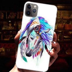 Horse Head Feather Phone Case