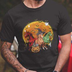 Horse Witch Blood Moon Halloween Shirt Horse Satan Horse Zombie
