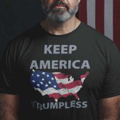 Keep America Trumpless Shirt American Flag Anti Trump