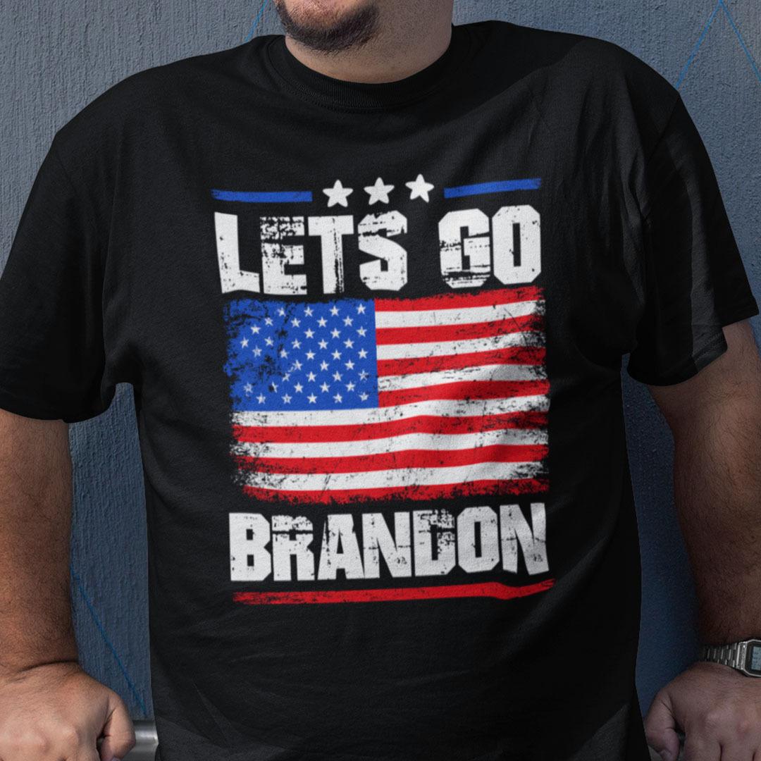Let's Go Brandon American Flag Shirt