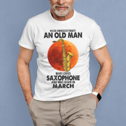 Never Underestimate An Old Man With A Piano Shirt March