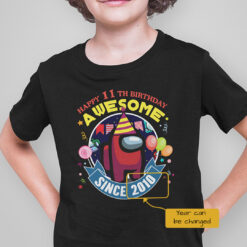 Personalized Among Us Happy 11th Birthday Awesome Shirt