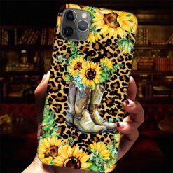 Sunflower Boots Leopard Skin Phone Case