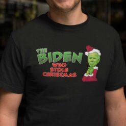 The Biden Who Stole Christmas Shirt Funny The Grinch Biden