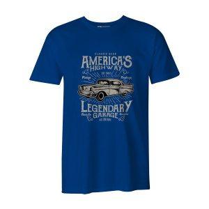 Americas Highway T Shirt Royal