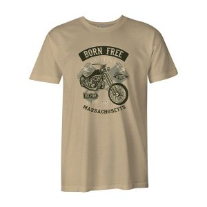 Born Free Choppers T Shirt Natural