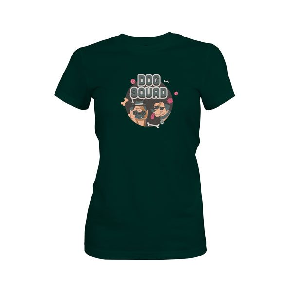 Dog Squad T Shirt Forest Green