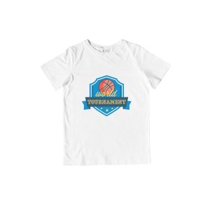 World Basketball T-Shirt White