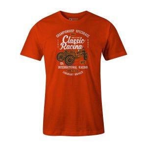 Classic Racing T Shirt Orange