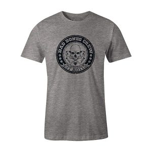 Get Busted T shirt heather grey