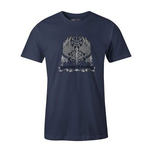Honor and Loyalty T shirt heather denim