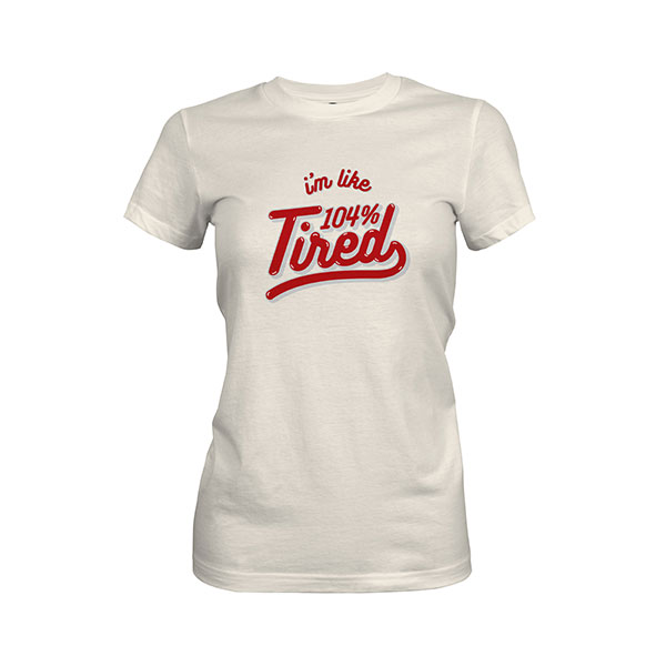 104 Tired T shirt ivory