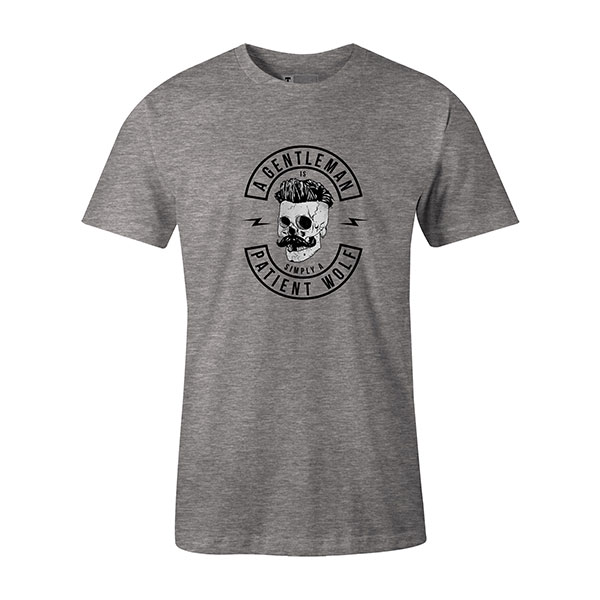 A Gentleman Is Simply A Patient Wolf T shirt heather grey