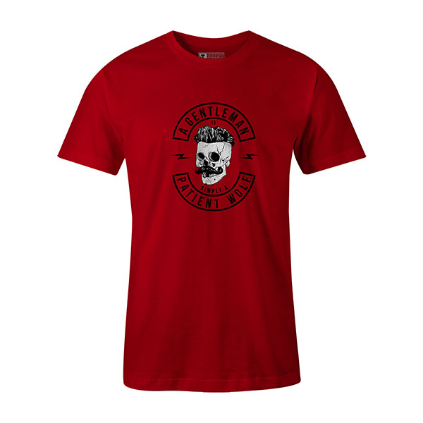A Gentleman Is Simply A Patient Wolf T shirt red