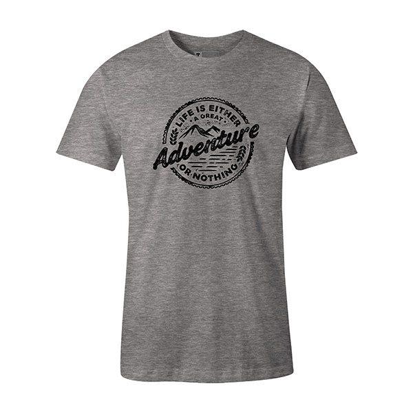 Adventure T shirt heather grey