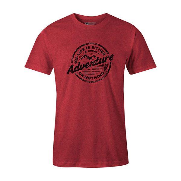 Adventure T shirt heather red