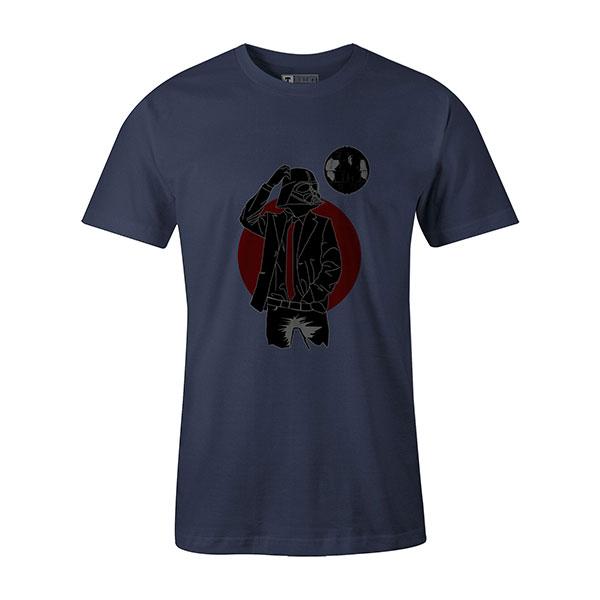Darth Dapper T shirt heather denim