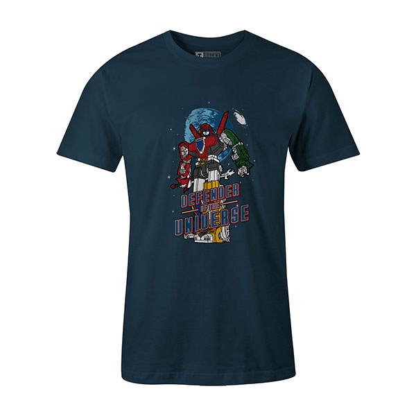 Defender of the Universe T shirt indigo