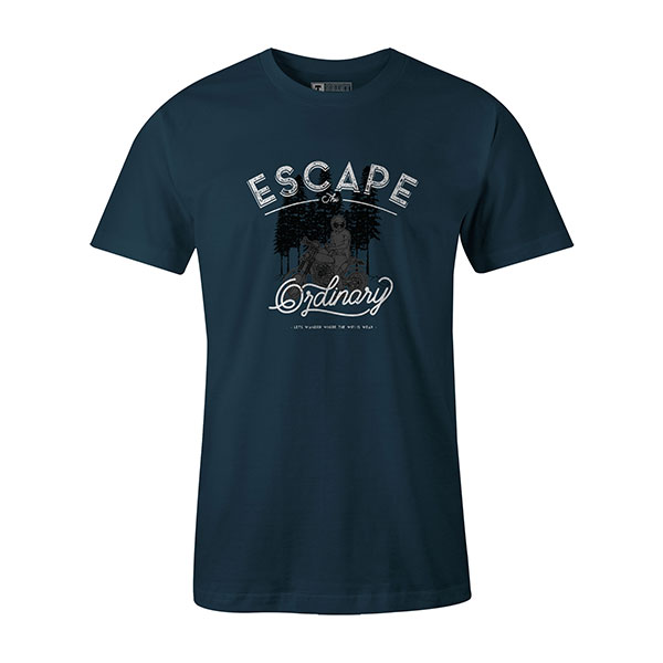 Escape The Ordinary T shirt indigo