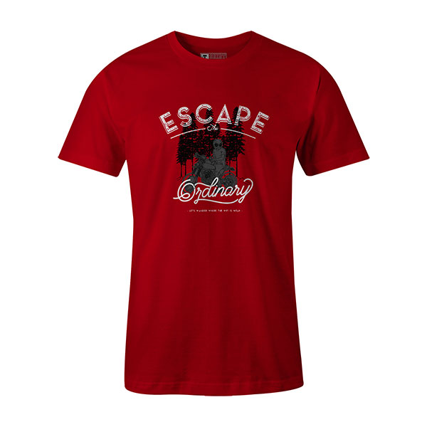 Escape The Ordinary T shirt red