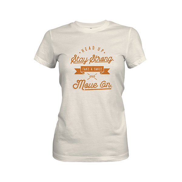 Fake A Smile And Move On T shirt ivory