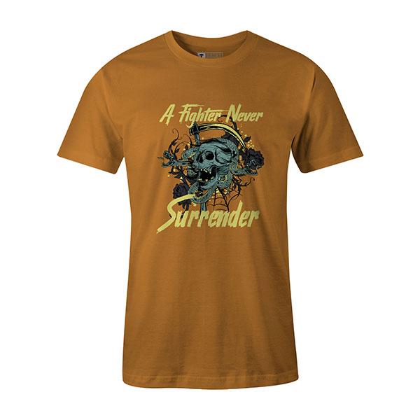 A Fighter Never Surrender T shirt ginger