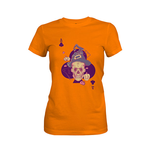 Ace of Clubs T shirt classic orange