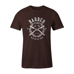 Barber Rebel T Shirt Brown