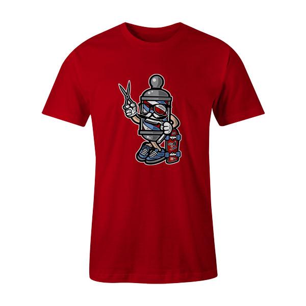 Barber Skater T Shirt Red
