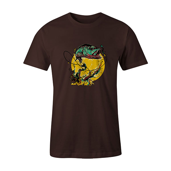Fly Fishing T shirt brown