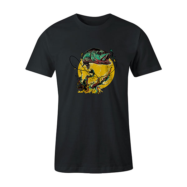 Fly Fishing T shirt coal