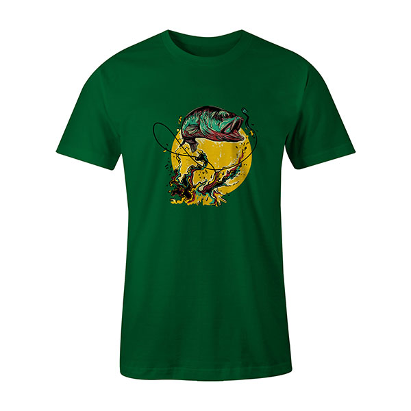 Fly Fishing T shirt kelly