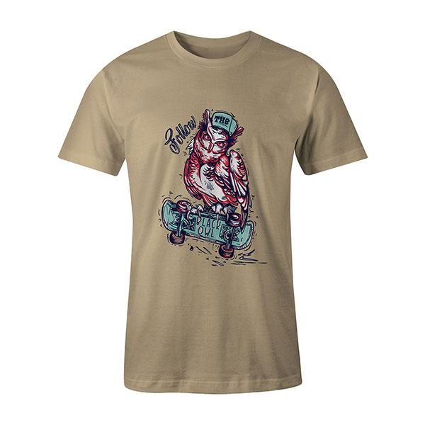 Follow The Black Owl T shirt natural