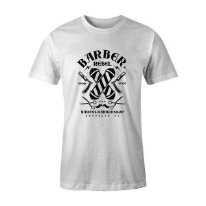 Barber Rebel II T Shirt White