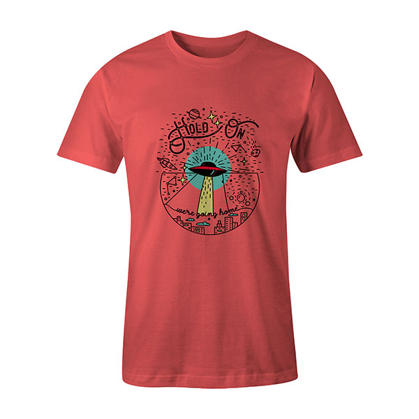 Hold On Were Going Home T shirt coral