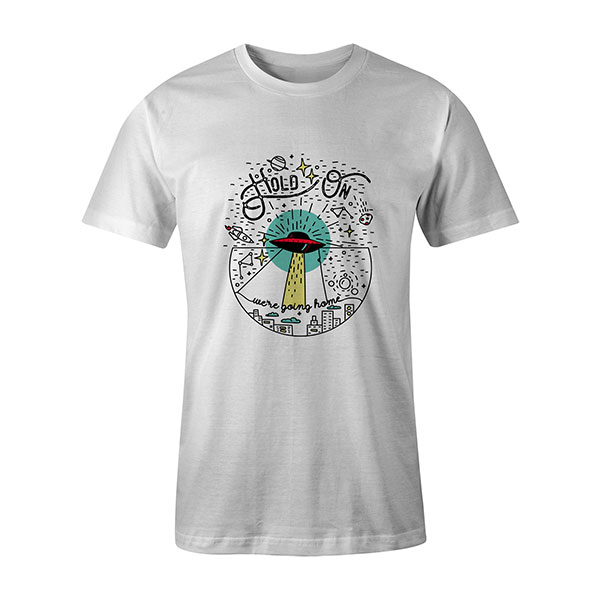 Hold On Were Going Home T shirt white