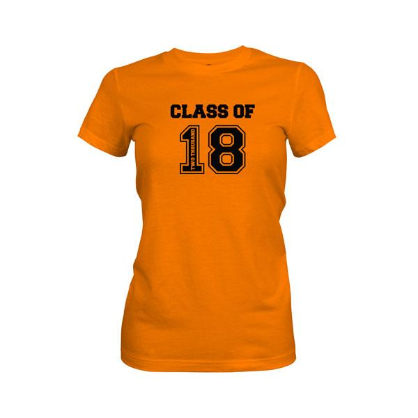 Class of 2018 T Shirt Classic Orange