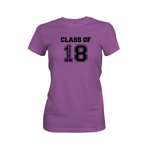 Class of 2018 T Shirt Purple Berry