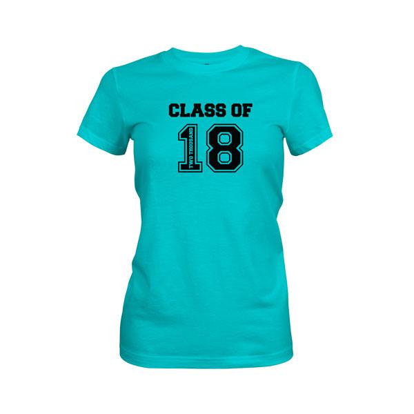 Class of 2018 T Shirt Tahiti Blue