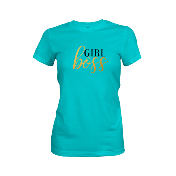 Girl Boss T Shirt Tahiti Blue